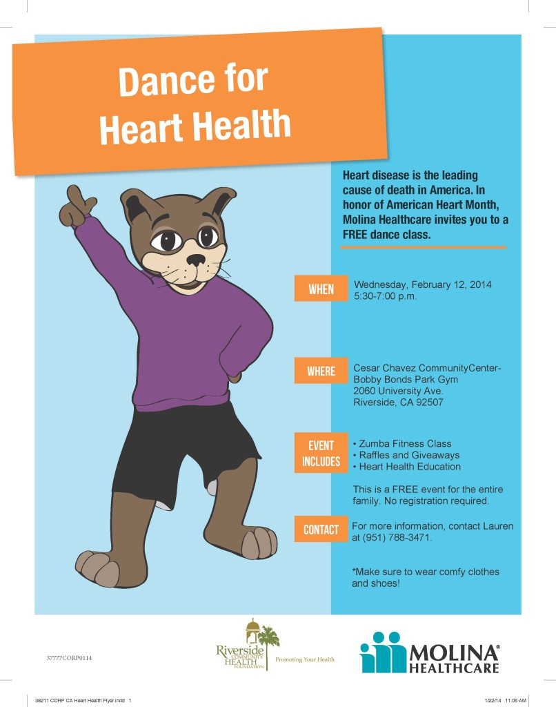 Dance for Heart Health, Molina, RCHF, Healthy